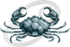 Cancer il segno della stella del granchio illustrazione vettoriale