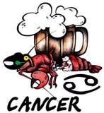 Cancer illustration Royalty Free Stock Photo