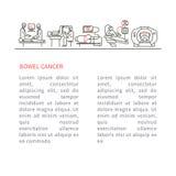 Cancer intestine illustration Royalty Free Stock Photography