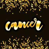 Cancer lettering Calligraphy Brush Text horoscope Zodiac sign illustration. Cancer lettering Calligraphy Brush Text horoscope Zodiac sign royalty free illustration