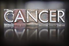 Cancer Letterpress Stock Image