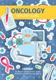 Cancer- och oncologysjukdombehandling, oncologist royaltyfri illustrationer