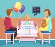 Cancer Patient Illustration Stock Images