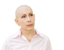 Cancer patient undergoing chemotherapy Royalty Free Stock Image