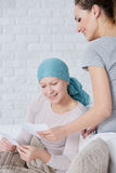 Cancer patient watching photos Stock Photography