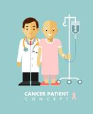 Cancer person concept. Cancer ill people. Stock Photography