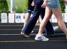 Cancer - relè per la camminata di vita Fotografia Stock