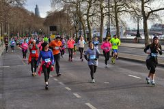 Cancer Research London winter run Stock Image