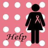 Cancer ribbon background Stock Photography