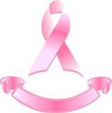 Cancer ribbon banner Royalty Free Stock Images