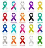 Cancer ribbons. Vector. Stock Photo