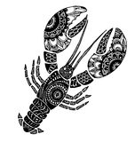 The cancer sign horoscope  ethnic style outline Royalty Free Stock Image