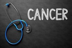Cancer - texte sur le tableau illustration 3D Images stock