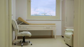 Cancer treatment chemotherapy room stock footage