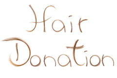 Cancer treatment donation hair Royalty Free Stock Images