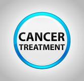 Cancer Treatment Round Blue Push Button royalty free illustration