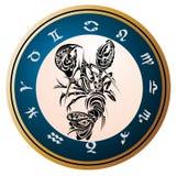 cancer undertecknar zodiac stock illustrationer