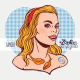 cancer undertecknar zodiac vektor illustrationer