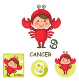 Cancer vector collection. zodiac signs. Illustration of isolated cancer vector collection. zodiac signs Royalty Free Stock Image