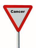 Cancer warning sign Royalty Free Stock Photography