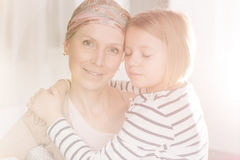 Cancer woman having family support Stock Photo