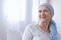 Cancer woman smiling with hope Royalty Free Stock Image