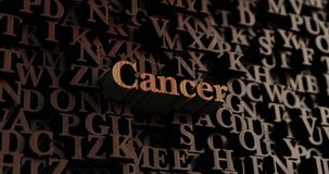 Cancer - Wooden 3D rendered letters/message. Can be used for an online banner ad or a print postcard Royalty Free Stock Photos