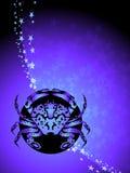 Cancer zodiac background Royalty Free Stock Image
