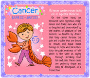 Cancer Zodiac kid Royalty Free Stock Photography