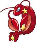 Cancer zodiac sign. Vector illustration of cancer zodiac horoscope sign Royalty Free Stock Photo