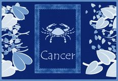 Cancer zodiac sign Royalty Free Stock Photos