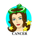 Cancer zodiac sign. astrological symbol Stock Photography