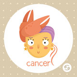 Cancer zodiac sign, girl with claws Stock Photography