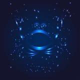 Cancer zodiac whith glitter star Stock Photo