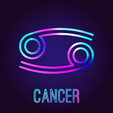 Cancer zodiaktecken royaltyfri illustrationer