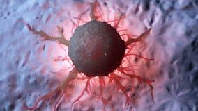 Cancercell royaltyfri illustrationer