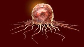 Cancercell, medically illustration 3D stock illustrationer