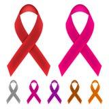 Cancermedvetenhetband royaltyfri illustrationer