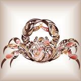 cancerzodiac royaltyfri illustrationer