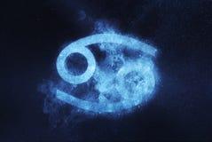 Cancerzodiaktecken Abstrakt bakgrund för natthimmel Royaltyfri Bild