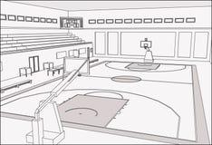 Cancha de básquet Stock de ilustración