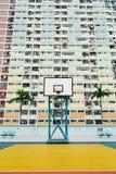 Cancha de básquet colorida en Hong Kong Imagen de archivo