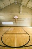 Cancha de básquet de la High School secundaria Fotografía de archivo