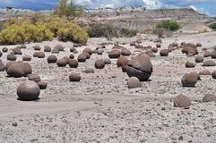 Cancha de Bochas. Ischigualasto Provincial Park. Argentina Royalty Free Stock Image