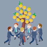 Canción con estribillo alrededor del árbol del dinero Libre Illustration