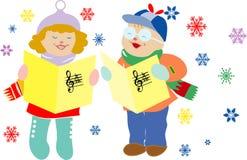 Canción de la Navidad. Foto de archivo