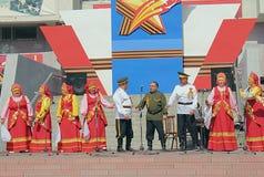Canción del Cossack del conjunto Imagen de archivo libre de regalías