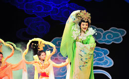 Canción histórica del estilo de la cavidad- de Yiyang y magia mágica del drama de la danza - Gan Po Imagen de archivo libre de regalías