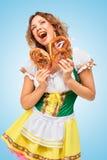 Canción sobre los pretzeles Imagen de archivo libre de regalías