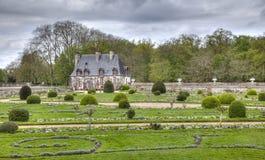 Cancillería de Diane de Poitiers Garden del molde de Chenonceau Imagen de archivo libre de regalías
